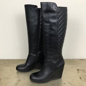 Nine West Quilted Vienneo Leather Knee-high Boots
